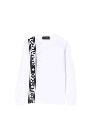 T-shirt bianca Dsquared2 kids teen DSQUARED2 KIDS | 7 | DQ03NZD00A8DQ100T