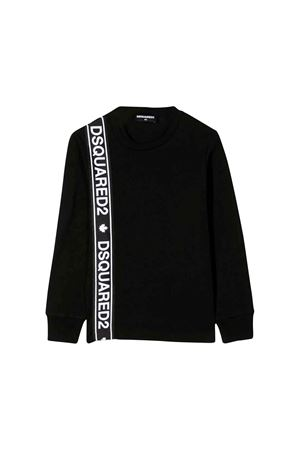 Dsquared2 kids black sweatshirt  DSQUARED2 KIDS | 7 | DQ03NZD00A8DQ900