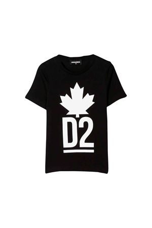 T-shirt nera Dsquared2 kids teen DSQUARED2 KIDS | 7 | DQ03P1D00A8DQ900T
