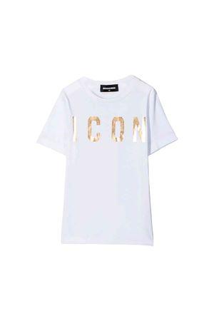 T-shirt bianca Dsquared2 kids teen DSQUARED2 KIDS | 7 | DQ03P2D00A8DQ100T