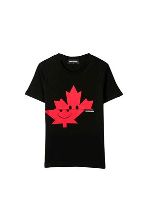 T-shirt nera Dsquared2 kids teen DSQUARED2 KIDS | 7 | DQ03P5D00A8DQ900T