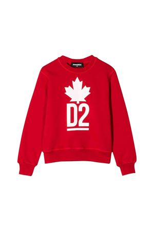 Red Dsquared2 kids sweatshirt  DSQUARED2 KIDS | -108764232 | DQ03PDD00Q8DQ415