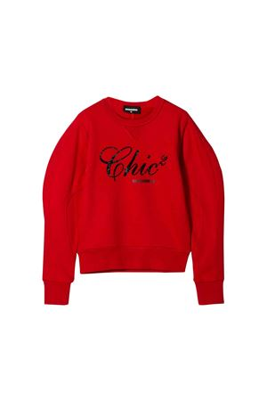 Red Dsquared2 kids girl sweatshirt  DSQUARED2 KIDS | -108764232 | DQ03QTD00G4DQ415