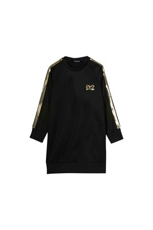 Dsquared2 kids black sweatshirt dress  DSQUARED2 KIDS | 11 | DQ03RAD00U8DQ900T