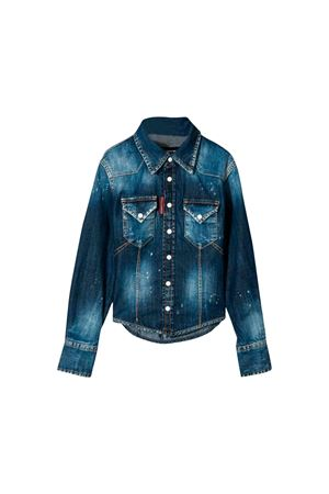 Dsquared2 kids teen dark denim shirt  DSQUARED2 KIDS | 6 | DQ03RKD00VLDQ01T
