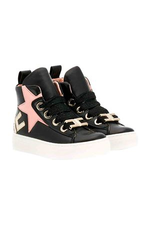 Elisabetta Franchi la mia bambina black high sneakers  ELISABETTA FRANCHI LA MIA BAMBINA | 12 | 63013A5