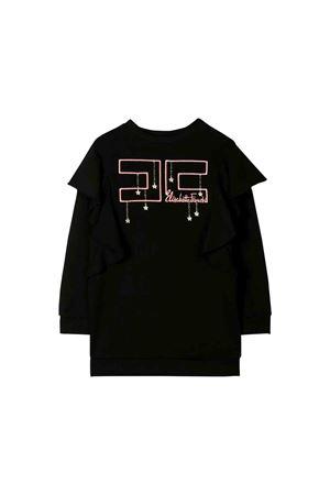 Elisabetta Franchi la mia bambina teen black sweatshirt  ELISABETTA FRANCHI LA MIA BAMBINA | -108764232 | EFAB209FE116UE0060019T