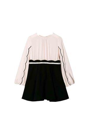 White and black dress Elisabetta Franchi la mia bambina ELISABETTA FRANCHI LA MIA BAMBINA | 11 | EFAB220GA35UE0700268
