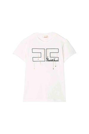 Elisabetta Franchi La mia bambina white T-shirt ELISABETTA FRANCHI LA MIA BAMBINA | 8 | EFTS90JE95UE0060017