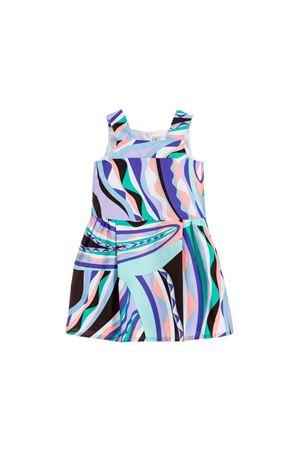 FANTASY DRESS BLUE GIRL EMILIO PUCCI KIDS  EMILIO PUCCI JUNIOR | 11 | 9L1222LD830713VI