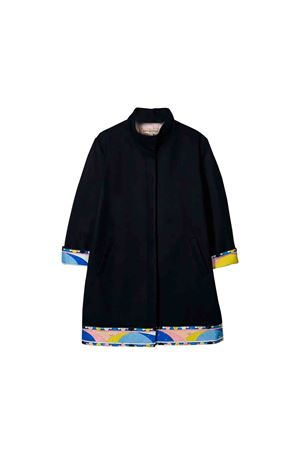 Blue Emilio Pucci junior girl coat  EMILIO PUCCI JUNIOR | 17 | 9L2040LD690620