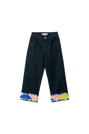 Jeans in denim scuro bambina Emilio Pucci junior EMILIO PUCCI JUNIOR | 9 | 9L6060LD660621