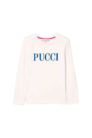 White Emilio Pucci junior teen t-shirt  EMILIO PUCCI JUNIOR | 8 | 9L8000LX140101T