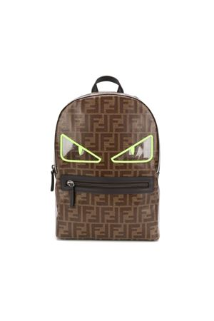 BROWN FENDI KIDS BACKPACK  FENDI KIDS | 279895521 | 8BZ040A3IIF166F