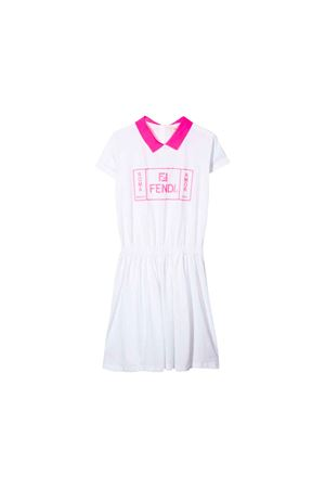 WHITE DRESS FENDI KIDS GIRLS  FENDI KIDS | 11 | JFB2867AJF0QA0