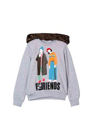 Fendi kids gray sweatshirt  FENDI KIDS | -108764232 | JFH0835V0F0HA2