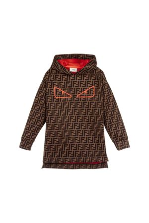 Fendi kids girl sweatshirt dress  FENDI KIDS | -108764232 | JFH090A8LGF0MEL