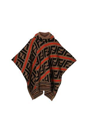Brown cape Fendi kids  FENDI KIDS | 52 | JFQ039A2M4F0H53