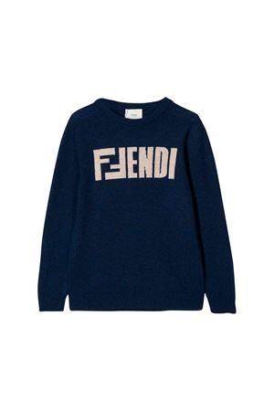 Dark blue sweater Fendi kids teen  FENDI KIDS | 7 | JMG056A8L7F0JZ7T