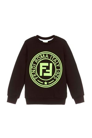 BLACK FENDI KIDS SWEATSHIRT  FENDI KIDS | -108764232 | JMH1005V0F0RX2