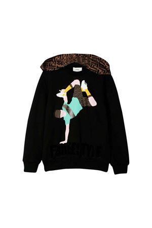 Fendi kids black sweatshirt  FENDI KIDS | -108764232 | JMH1075V0F0QA1