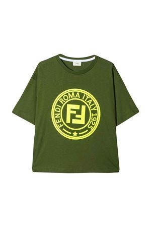 GREEN FENDI KIDS T-SHIRT FENDI KIDS | 8 | JMI2747AJF16WC