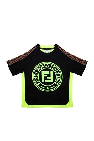 BLACK FENDI KIDS T-SHIRT  FENDI KIDS | 8 | JMI2757AJF0RX2
