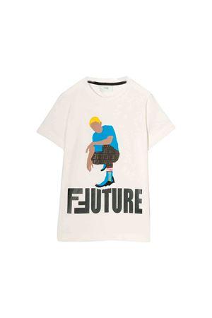 White T-shirt Fendi kids  FENDI KIDS | 8 | JMI2877AJF16WF