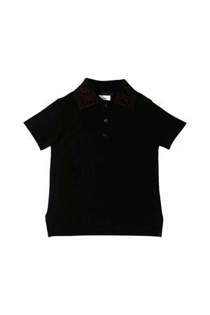 Fendi black polo kids  FENDI KIDS | 8 | JMI292AVPF0QA1