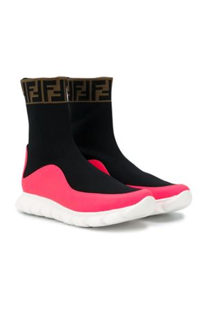 BLACK AND PINK SOCKS SNEAKERS FENDI KIDS TEEN FENDI KIDS | 90000020 | JMR289A8CLF17SFT