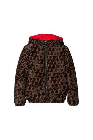 Brown Fendi kids reversible down jacket  FENDI KIDS | 13 | JUA068A8XWF0UZ4