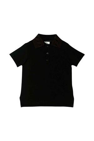 Black Fendi kids polo shirt  FENDI KIDS | 75988881 | JUP004A2LTF17GJ