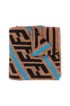Fendi kids camel scarf FENDI KIDS | 77 | JUQ001A2M4F17GK