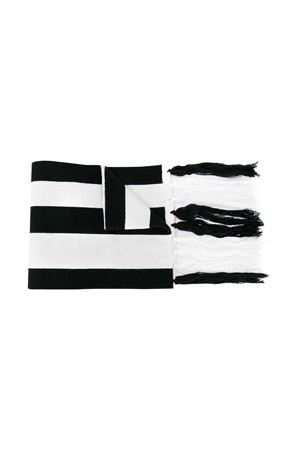 WHITE AND BLACK STRIPED SCARF MSGM KIDS  GCDS KIDS | 77 | 020404110