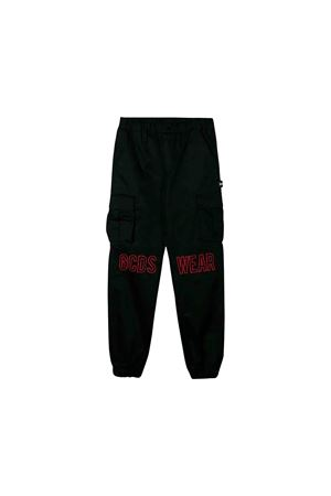 Black GCDS kids multi pocket trousers  GCDS KIDS | 9 | 020469110