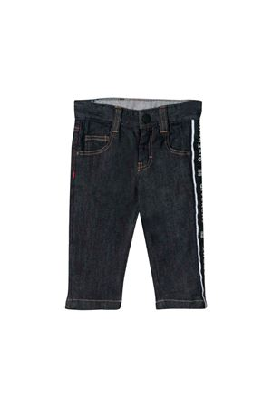 PANTALONE IN DENIM NERO GIVENCHY KIDS Givenchy Kids | 9 | H04058Z09