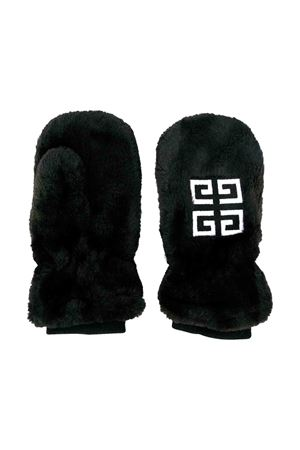 Black Givenchy kids fur mittens Givenchy Kids | 212911651 | H1001609B