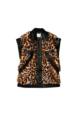Givenchy Kids teen animal print fur vest  Givenchy Kids | 13 | H16050Z40T