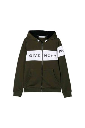 Felpa verde kaki Givenchy kids Givenchy Kids | 39 | H25120642