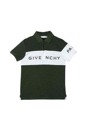 Khaki green polo shirt Givenchy kids teen  Givenchy Kids | 2 | H25129642T