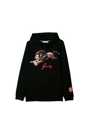 BLACK SWEATSHIRT GIVENCHY KIDS  Givenchy Kids | -108764232 | H2513409B