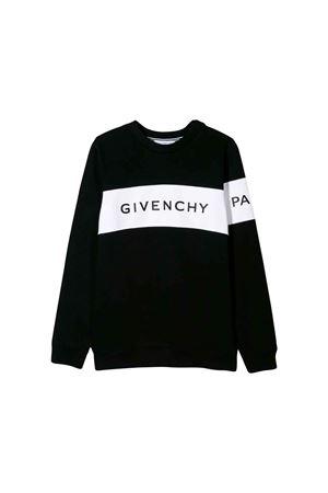BLACK SWEATSHIRT GIVENCHY KIDS  Givenchy Kids | -108764232 | H2513709B