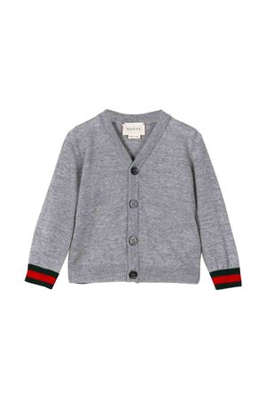 Grey cardigan with multicolor details Gucci kids GUCCI KIDS | 39 | 418777X12841676