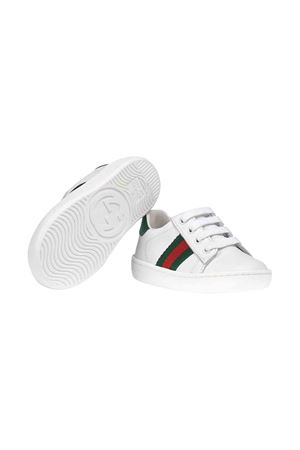 White sneakers with red and green details Gucci kids GUCCI KIDS | 12 | 433146CPWE09075