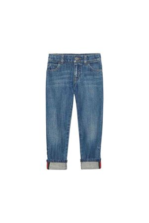 Light blue jeans with multicolor details Gucci kids GUCCI KIDS | 24 | 453311XR3844025