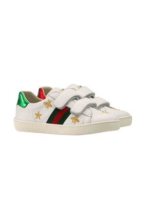 White sneakers with golde bee Gucci kids GUCCI KIDS | 12 | 5044990II409064