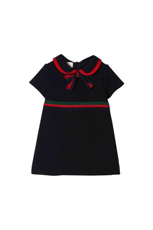 Black dress with red and green details Gucci kids GUCCI KIDS | 11 | 544108XJANU4823