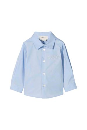 Light blue shirt Gucci kids GUCCI KIDS | 6 | 547088XWAAQ4851