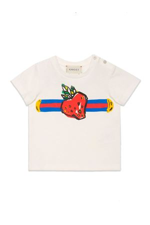 WHITE GUCCI KIDS T-SHIRT  GUCCI KIDS | 8 | 555675XJBJD9061