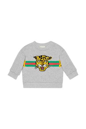 Grey swetashirt with multicolor frontal press Gucci kids GUCCI KIDS | -108764232 | 557401XJBBW1135